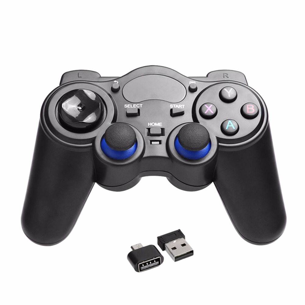 2.4GHz Wireless Game Pad Joypad Controller Handle Gamepad Joystick With OTG Converter For Windows 8/7/XP For Android 2.3