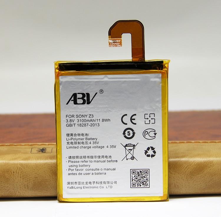 Alta Qualidade ABV LIS1558ERPC bateria bateria Para sony Z3 Z3 L55T L55U D6653 D6633 D6643 Bateria z3