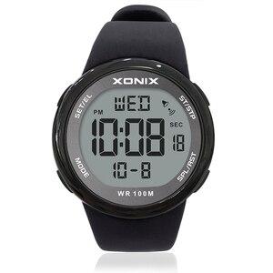 Image 2 - אופנה גברים ספורט שעונים עמיד למים 100m חיצוני כיף Hardlex מראה Sumergible דיגיטלי שעון שחייה שעוני יד Reloj Hombre