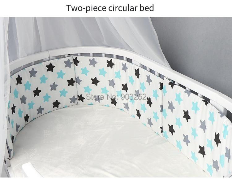 Детские кроватки бамперы для стандартных кроваток машинная моющаяся мягкая Накладка для детской кроватки хлопок