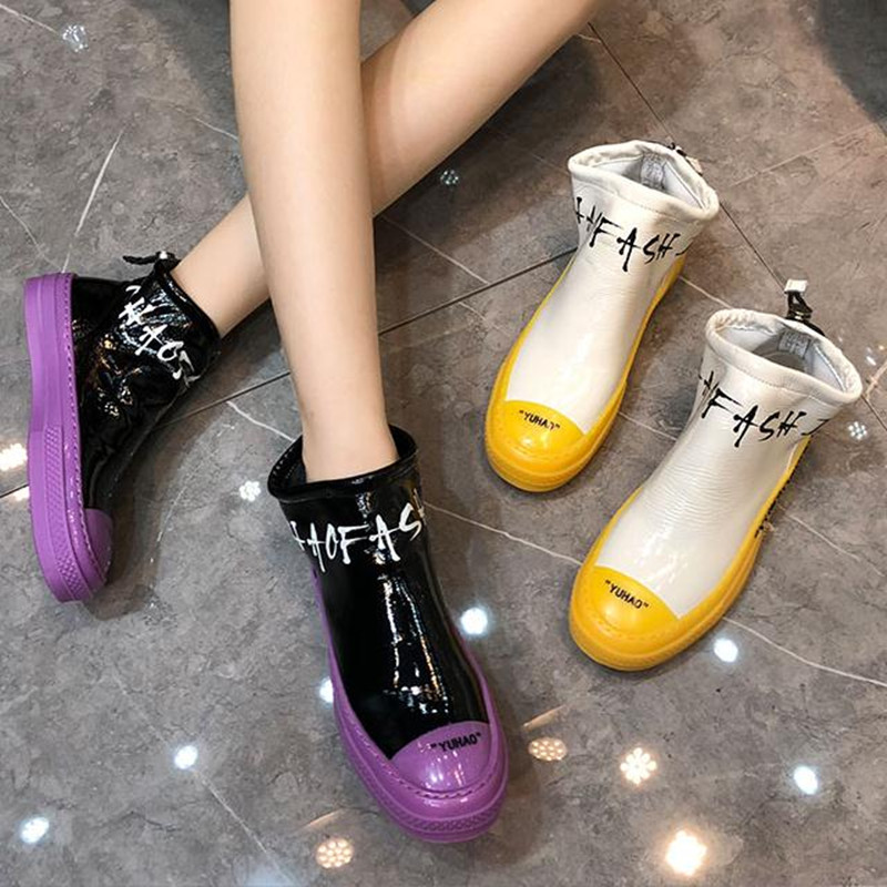 Women's Shoes Color-Letters Flat Autumn Winter New And Casual with Help High-To