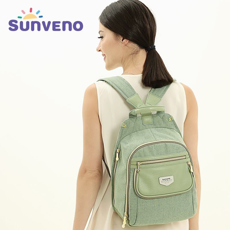 New SUNVENO Diaper Bag Fashion Baby Bag Backpack Baby Stuff Organizer Mum Mom Mummy Maternity Nappy Changing Wet Bag Baby Care