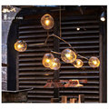 Creative design Modern chandelier clear glass bulbs for dinning room livingroom led kitchen lights AC85-265V luminarias