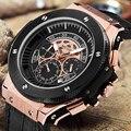 2017 Megir Часы Мужчины Luxury Brand Кварцевые Наручные Часы Мужчин Спорта Военный Часы Большой Золота Хронограф Человек Смотреть