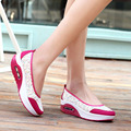 Hot Sale Purple Women Platform Casual Shoes Print Swing Shoes Breathable Mesh Slip-on Platform Shoes X953 35