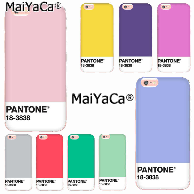 MaiYaCa Caliente Pantone Fashion Phone Case for iphone SE 2020 11 pro 8 7 66S Plus X 10 5S SE XR XS XS MAX Coque Shell
