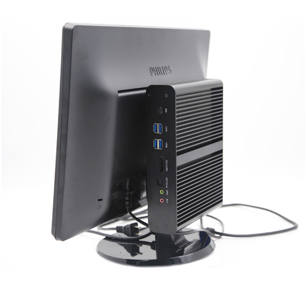 EGLOBAL New <font><b>Fanless</b></font> Mini PC 8th Gen CPU i7 <font><b>8550U</b></font> Quad Core DDR4 Mini Computer Plus DP HDMI Windows 10 HTPC Nettop 8MB Cache image