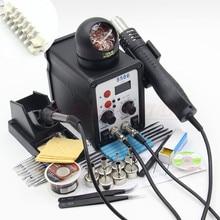 RIESBA 8586 700 Watt ESD Lötstation LED Digital-lötkolben Entlötstation BGA Rework Lötstation Heißluftpistole schweißer