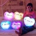 Regalo de cumpleaños de San Valentín Kawaii LED Luminoso Almohada amor Brinquedo Colorido Cojín Relleno Felpa Suave Juguetes Para niñas