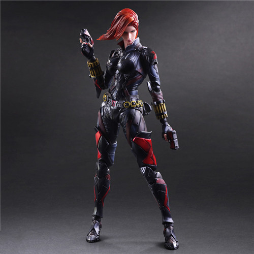 PlayArts KAI Black Widow PVC Action Figure Collectible Model Toy 27cm fire toy marvel deadpool pvc action figure collectible model toy 10 27cm mvfg363