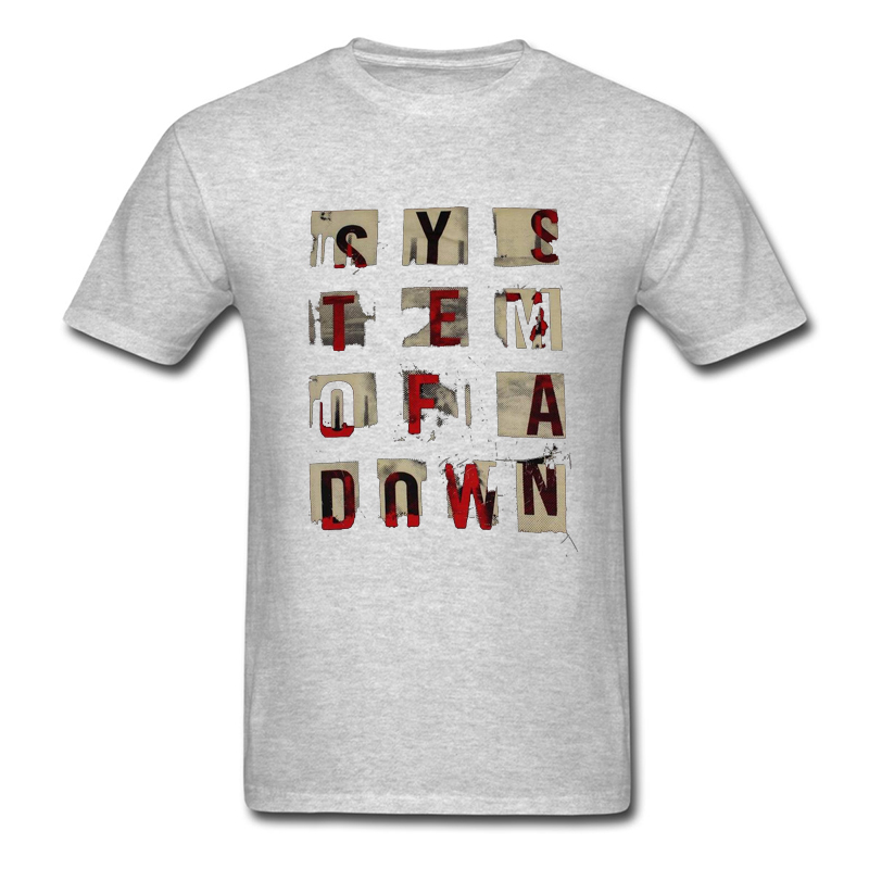 SYSTEM OF A DOWN Mens T Shirt S.O.A.D. Alternative Metal Band New Fashion Tops Tees 100% Cotton Summer Male T-shirts Size S-3XL