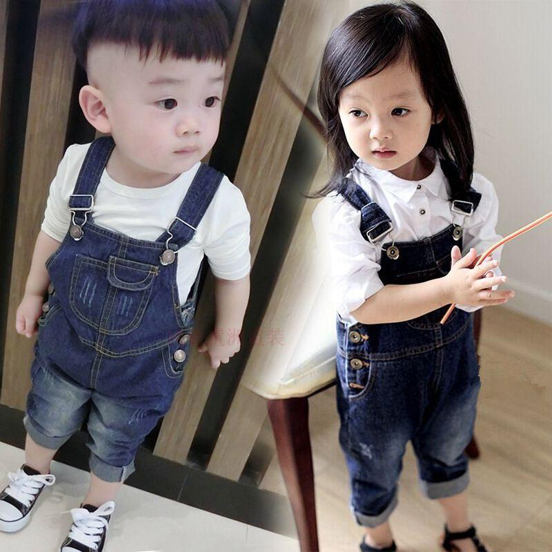 0d107907d7f New Spring And Autumn Children s Overalls For Girls And Boys Denim Pocket Jumpsuit  Bib Pants Kids Jeans Baby Girls Overall - aliexpress.com - imall.com