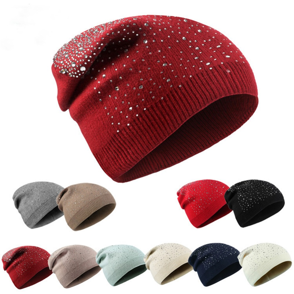 New Autumn Winter Hiphop Women's Warm Casual Acrylic Slouchy Knitted Hat Crochet Skullies Beanies Cap Female Soft Baggy