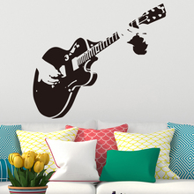 hot deal buy aiyoaiyo creative art guitar wall stickers home decor diy musical instrument vinyl wall stickers home decor living bedroom