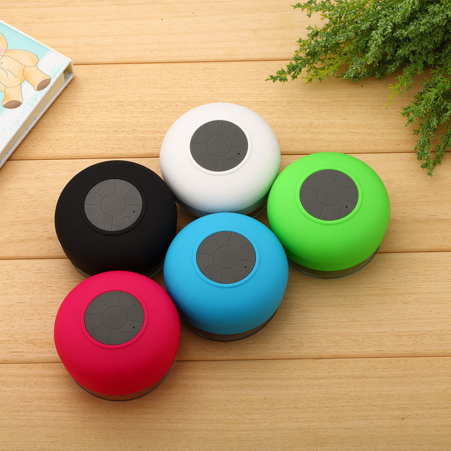 Mini Hifi Waterproof Wireless Bluetooth Speaker No Earphone Portable  Handsfree Mic Suction Shower Car Mini Bathroom Speaker