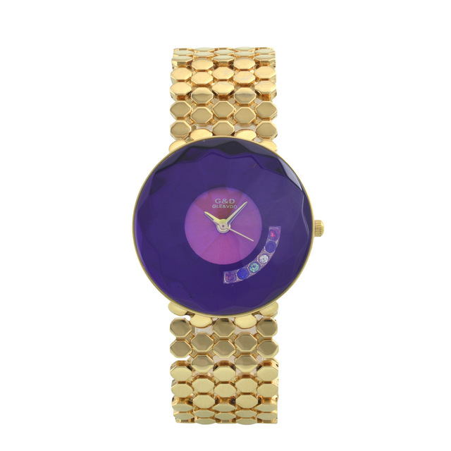 G&D Luxury Brand Women's Watches Gold Fashion Quartz Wristwatches Ladies Bracele