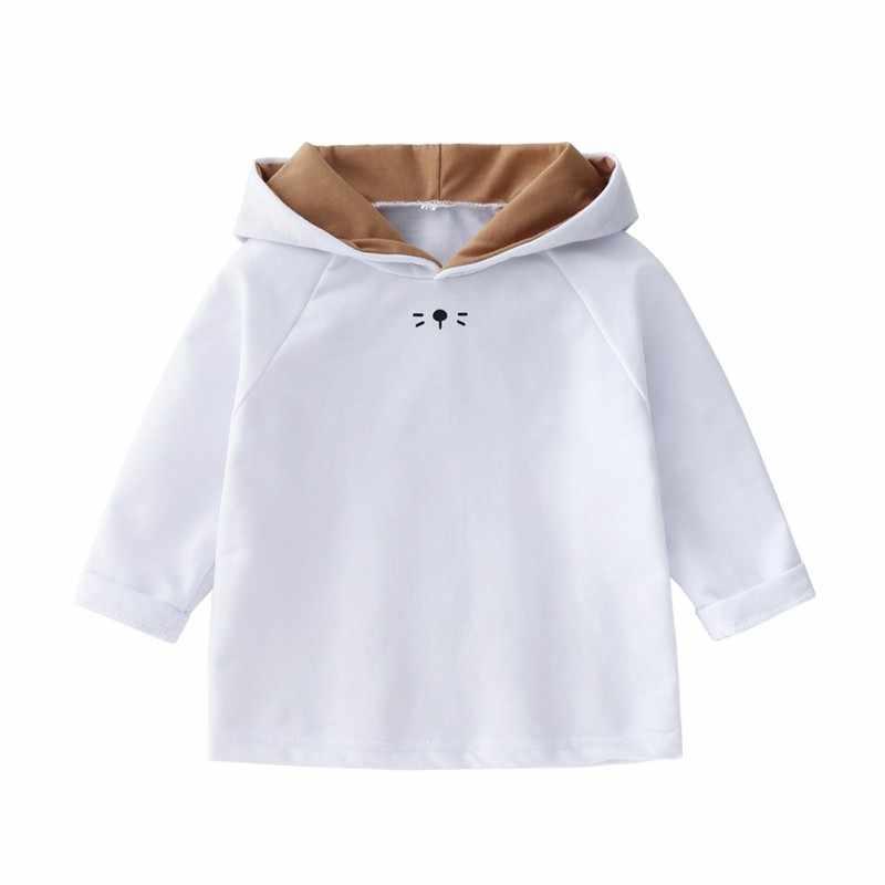 Pasgeboren Baby Hoodies Snoep Kleur Baby Meisjes Sweatshirts Hoodies Kinderen Jassen Jas Meisjes Lente Herfst Sweatshirts 0-24 M