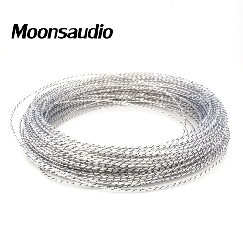 Free shipping 100M Moonsaudio Nordost Odin Valhalla Top rated 7N copper pure Silver DIY power cable