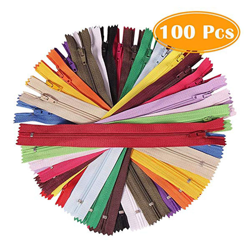 120pcs YKK #3 Nylon Coil Zippers Bulk Tailor Sewing Crafts Made USA 20 Colors 14 Inches