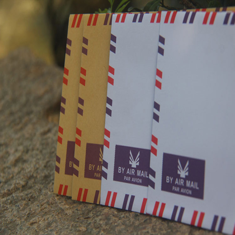 Retro Air Envelope Kraft Paper Envelope White Gift Envelope Stationery By Air Mail 10pcs/lot 17*10.1cm