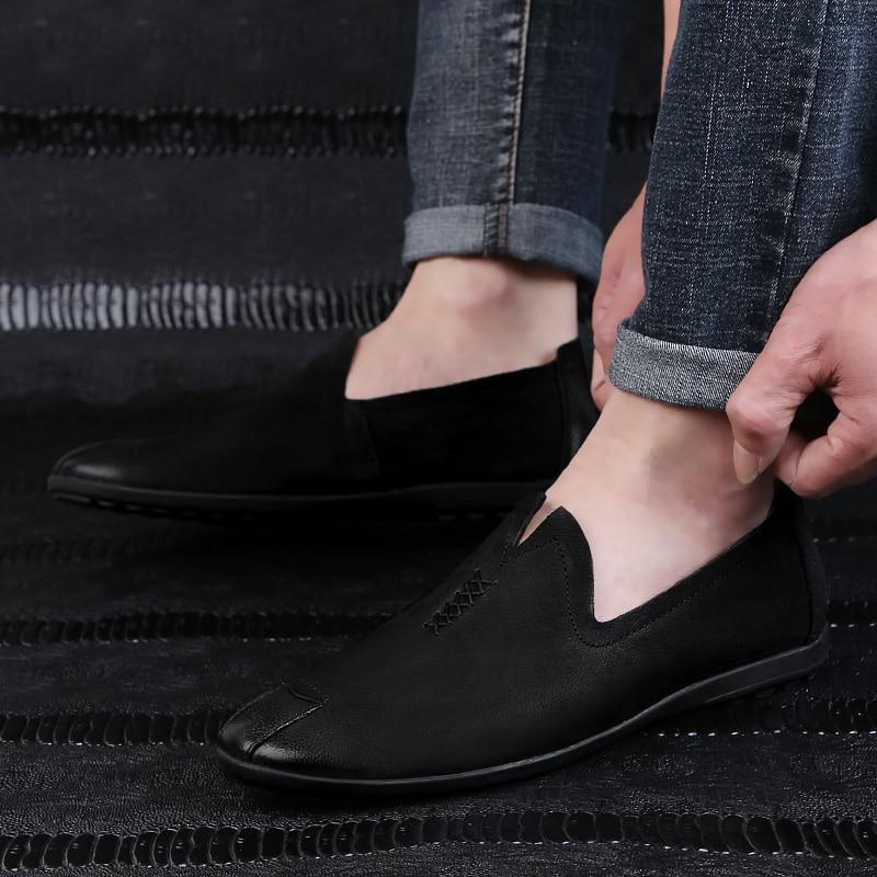 2018 nowy styl mężczyzna przypadkowych butów mokasyny czarny - Buty męskie - Zdjęcie 3