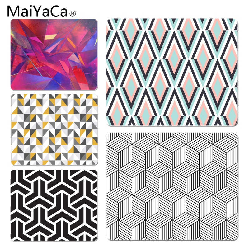 MaiYaCa New Arrivals Geometric Customized laptop Gaming mouse pad Size for 180x220x2mm and 250x290x2mm Small Mousepad