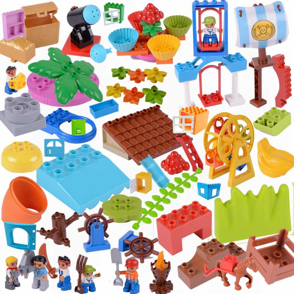Creator Duplo Large Building Block Bricks DIY Classic Piece Big Size Dot Brick Toys Accessories Legoing Creators Duploe Part Kit