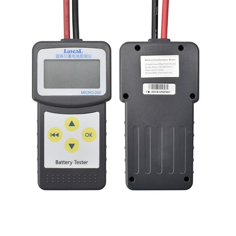 Lancol M200 12В 2000CCA тестер автомобильного аккумулятора система обнаружения автомобильного плохого аккумулятора диагностический инструмент Мно...