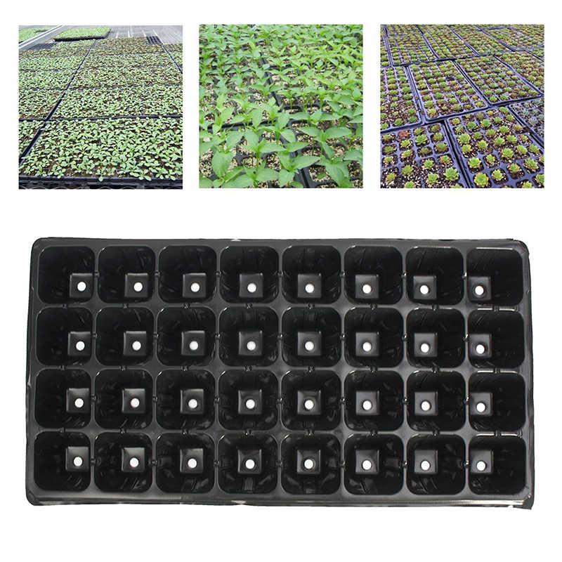 Jardim 32 célula plântula starter bandeja extra força semente germinação planta vasos de flores berçário crescer caixa propagação quente