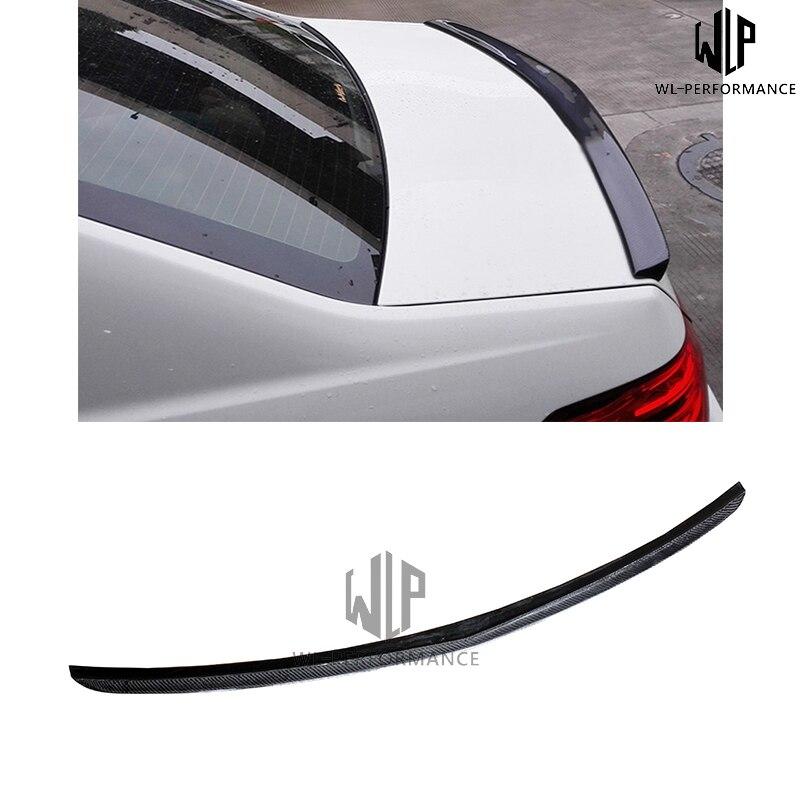 W212 Carben Fiber Rear Spoiler Wings Car Styling For Mercedes-Benz E Class E200 E260 E350 Car Body Kit 2014-UP