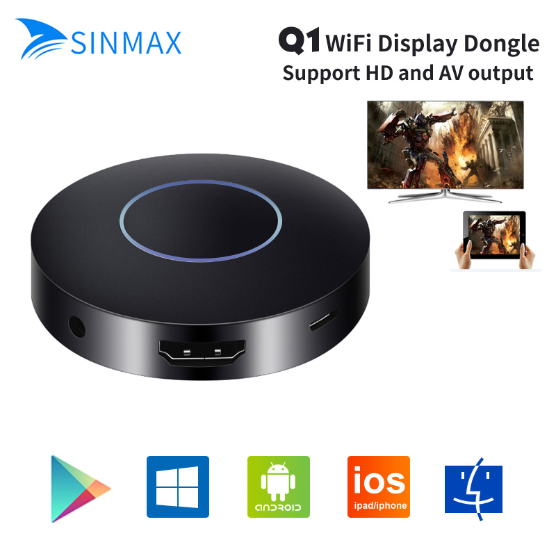 1080P Full HD OTA TV Stick Dongle Better Than Chromecast EasyCast HDMI AV WiFi Display Receiver DLNA Airplay Q1 Mirroring Dongle measy w2h wireless hdmi media player tv stick push wifi display receiver dongle chromecast dlna airplay free shipping