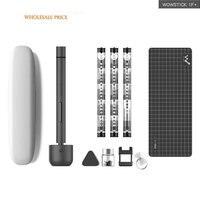 최신 wowstick 1fs 1f 프로 wowstick 1f 플러스 미니 리튬 전기 스크루 드라이버 합금 바디 3 led 라이트 무선 리튬 이온