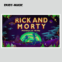 Home Wall Decoration Retro Poster Rick and Morty Adult Swim Cartoons Space Animation Planet 30X50 Cm