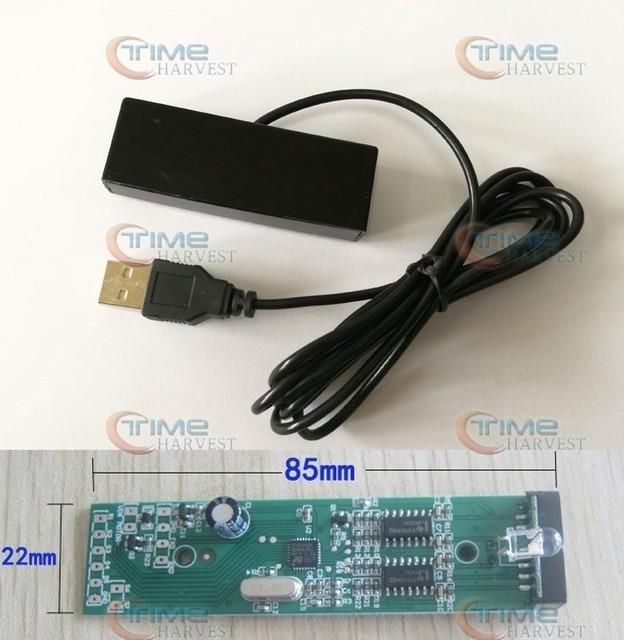 Kit de sensor y receptor de pistola de luz PC juego de controlador de sensor de luz eléctrica para juegos de tiro