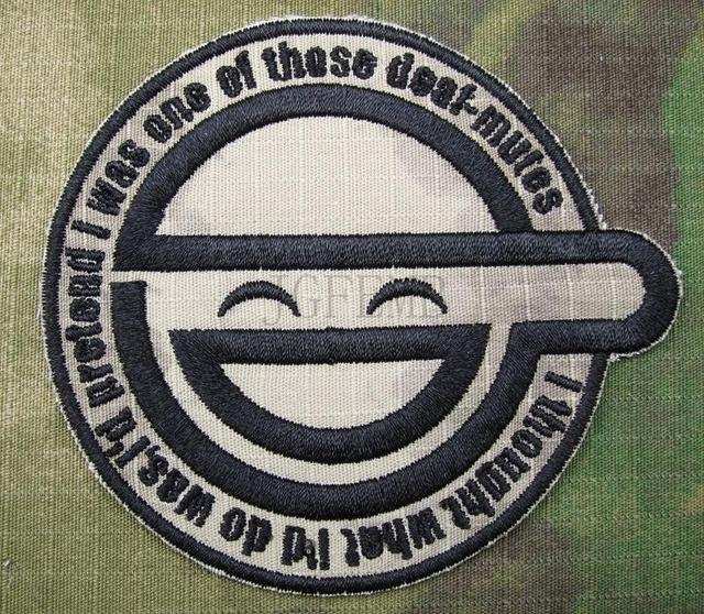 A TACS AU GHOST IN SHELL STAND ALONE COMPLEX The Laughing Man Embroidery Patch