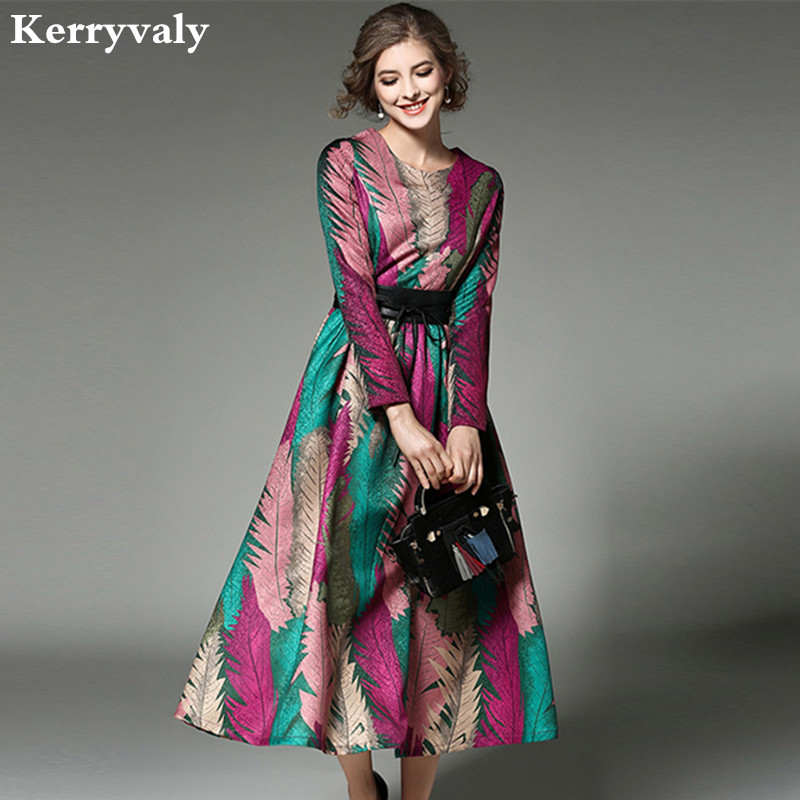 0817133095d Detail Feedback Questions about High end Women Jacquard Long Maxi Dress  Vetement Femme 2019 Robe Longue Autumn Party Dresses Vestidos Mujer K9336  on ...