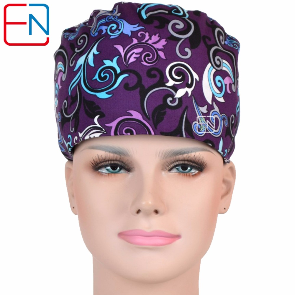 NEW Matinbrand One Size Adjustable Surgical Cap For Long Hair Doctors And Nurses 100% Cotton