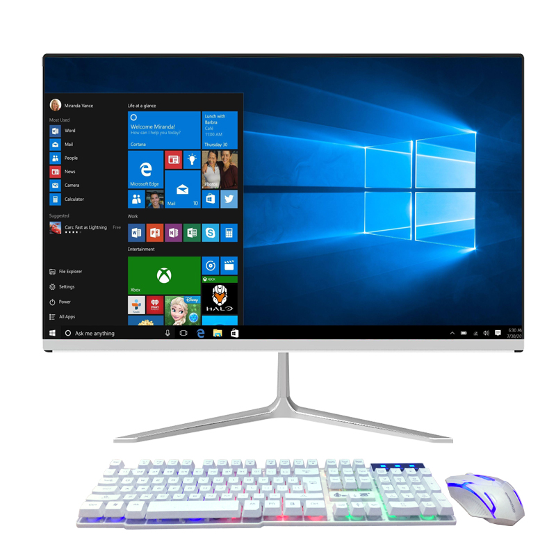 Screen 24 Or 27 Inch CPU 8th I5 8500 Or I7 Latest Model  RAM 4/8/16GB  DDR4 HD 1TB SSD OS Win7 Desktop Computer Pc