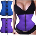 Hooks And Zipper Rubber Latex Waist Trainer Sexy Waist Trainer Corsets Underbust Waist Cincher Corset Tops Body Slimming Shaper