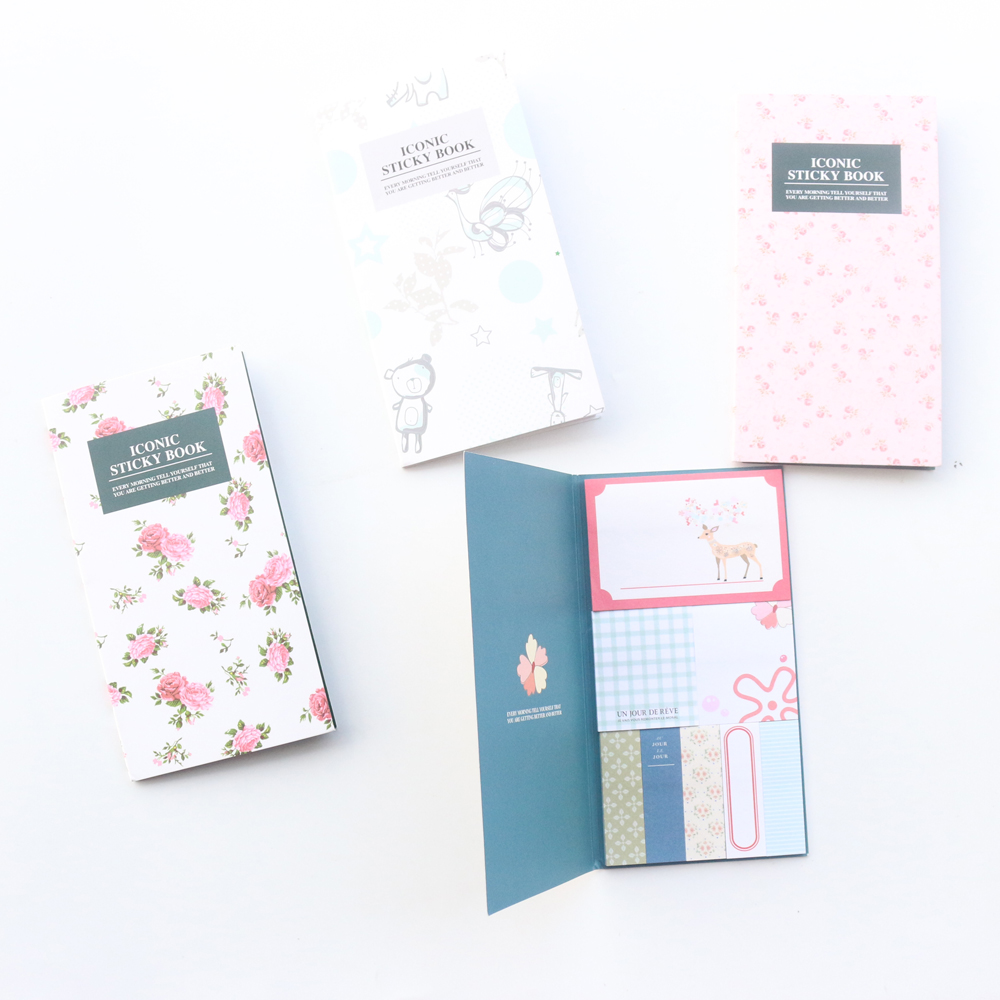 Domikee new cute cartoon school student sticky note pad stationery,fine candy portable memo pad index label book Islamabad