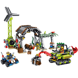 YETAA Police Tracing The Timber Trespass Model Building Blocks Gifts Toys Legofigure Bricks Minecraft Blocks Toys For Children