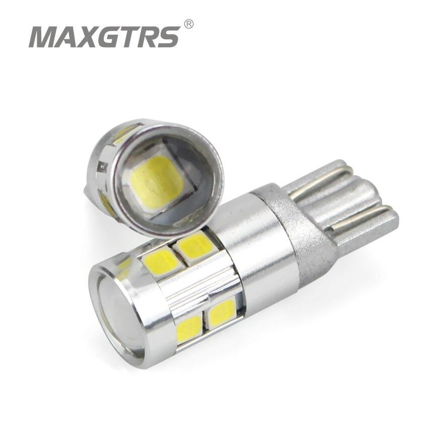 5x T10 168 194 W5W 3030 чип светодиодный белый/желтый поворот сбоку Номерные знаки для мотоциклов свет с Len лампы ДРЛ автомобиля подкладке обратный ис...