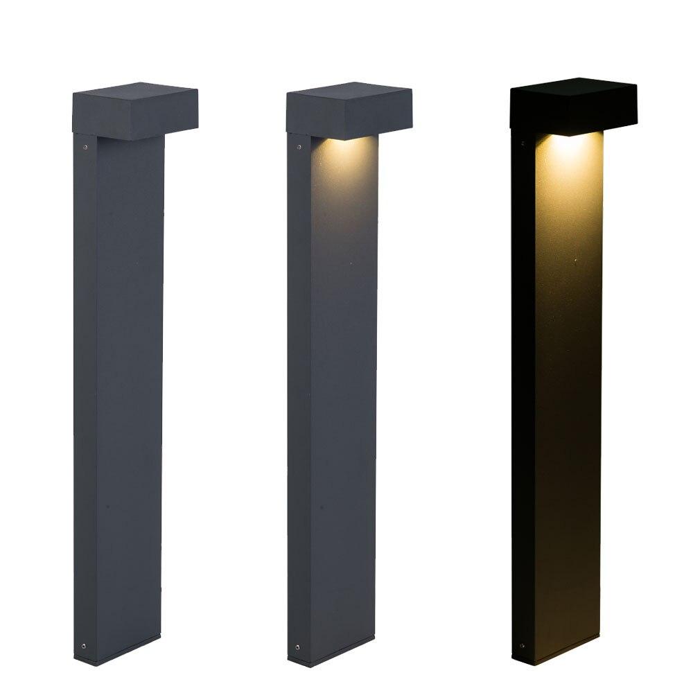 Pico de aço inoxidável gramado luz led