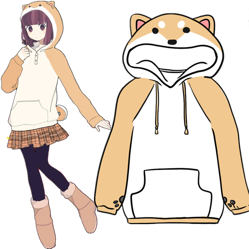 Anime Hoodies Japanese Kawaii Clothes Winter Doge Pullovers Cos Costumes Fleece Hooded Harajuku Sweater In Mens From Novelty Special Use