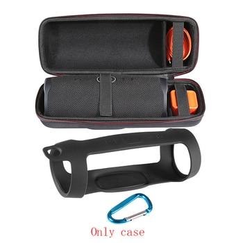 2 em 1 Duro EVA Carry Zíper Saco De Caixa De Armazenamento + Soft Silicone Case Capa para Carga JBL 4 Bluetooth falante Para JBL Charge4 Coluna