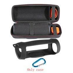 2 w 1 twardy EVA Carry Zipper torba do przechowywania + miękki futerał silikonowy pokrywa dla JBL Charge 4 głośnik Bluetooth dla JBL Charge4 kolumna w Akcesoria do głośników od Elektronika użytkowa na