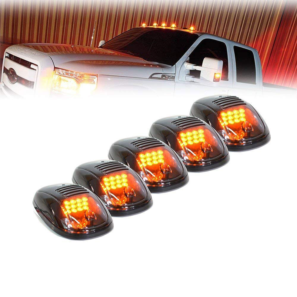 Lonleap Smoke Cab Roof Running Top Clearance Marker Lights for Dodge Ram 1500 2500 3500 4500