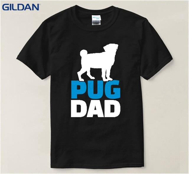 Camiseta Pug Redonda Negra Blanco Hombres Los De Y Perro Camisetas HD29IWEY