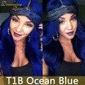 Новое Прибытие 2 Тон 1B Синий Ombre Малайзии Объемной Волны Человека Волосы девственницы 3 Связки 100% Человеческих Волос Черный И Синий Ombre расширения