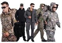 9 kolory Wodoodporna Kamuflaż Skóry Rekina TAD V4.0 Zestaw Kamer Taktyczne Wojskowe Spodnie Kurtka Softshell Piesze Wycieczki Odkryty Camping